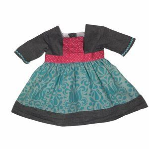 STELLYBELLY GRAY TURQUOISE PINK A LINE DRESS 12M